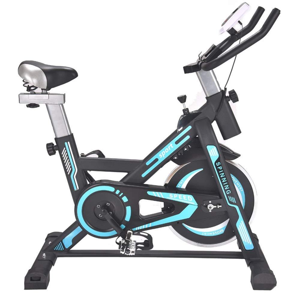 室内自転車 フィットネスバイク 適性のカーディオ減量の試し機械が付いている無言の屋内訓練コンピュータそして楕円形の十字のトレーナー エアロフィットネス バイク (色 : 青, サイズ : Free Size) Free Size 青 B07SJZ1TBQ