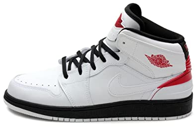 Jordan Gradeschool 1 Retro '86 Bg WHITE/BLACK//GYM RED 644494-