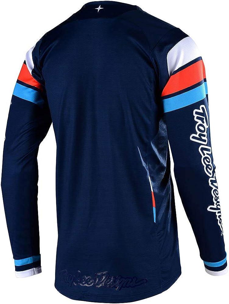 Troy Lee Designs Mens Offroad Motocross SE Seca Jersey Small, Dark Navy//Orange