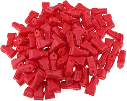 100PCS Peg Hook Stop Lock for Prevent The Sweep Theft of Displayed Products on A