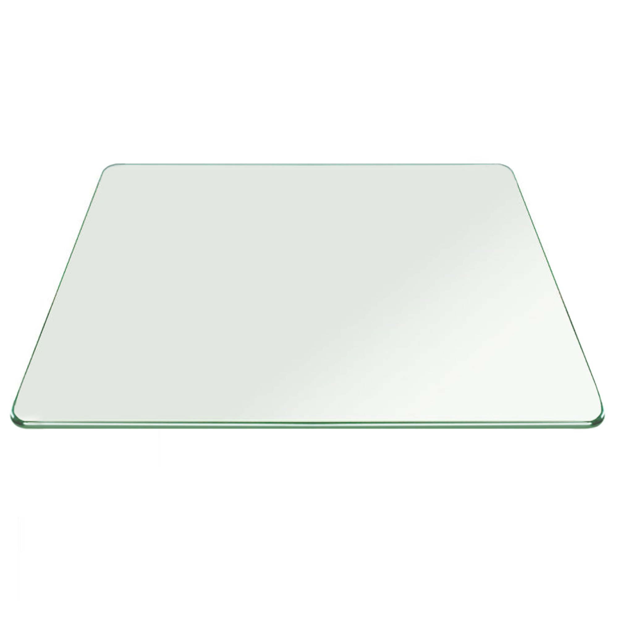 Fab Glass and Mirror 37SQR10THPETE Square Tempered Glass Table Top, 37'' Inch