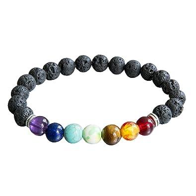 code promo 396bf b5c32 Femme Homme Lava Bracelet porte-bonheur perles multicolores ...