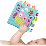 Infant Book for Baby Boys Girls Touch and Feel, Soft Cloth Owl Crinkle Sensory Preschool Toddlers Toys, 2020 Loveys…