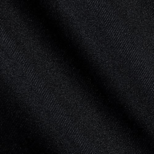 (Ben Textiles Gabardine Suiting Solid Black Fabric by The Yard,)
