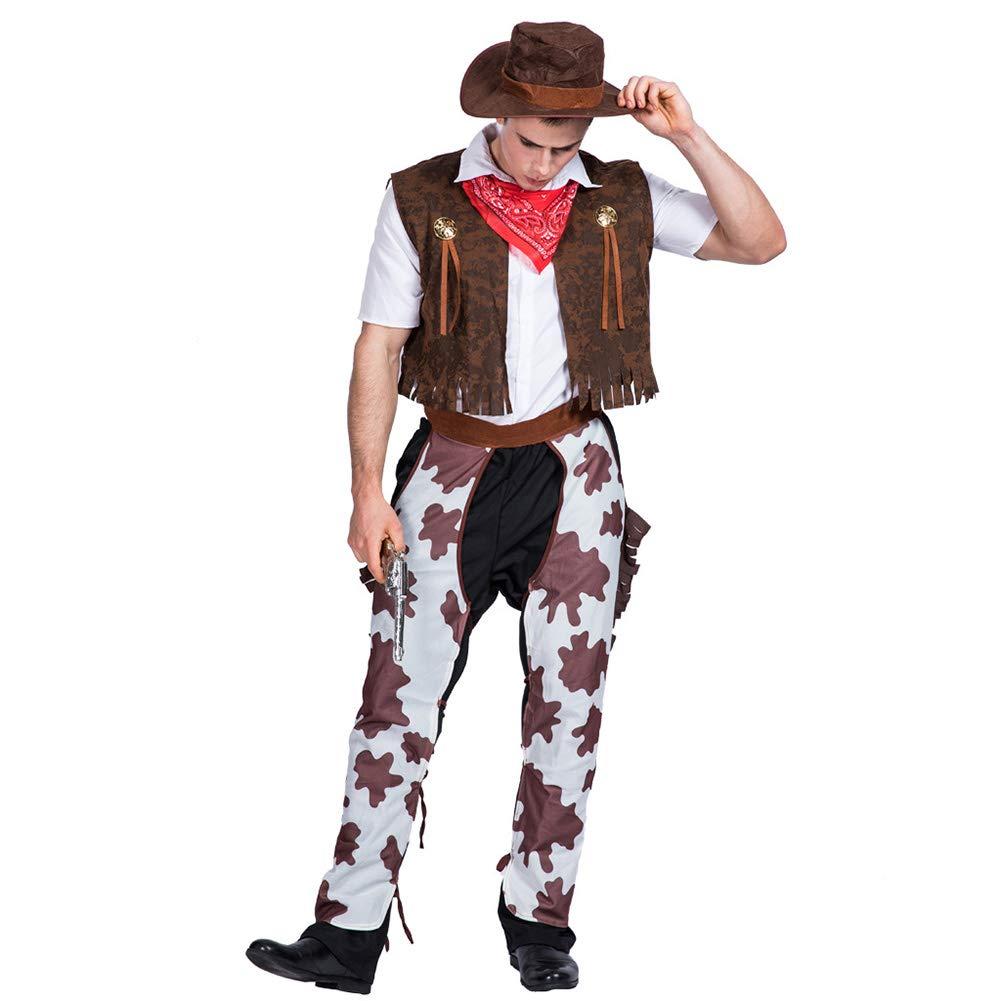 Amazon Com Forart Men S Halloween Cosplay Western Cowboy Suit Clothing