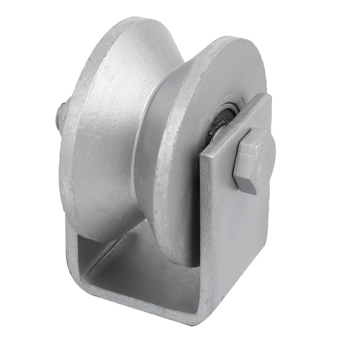 uxcell 3.15-inch Dia V Groove Rigid Caster Wheel for Sliding Door Track