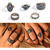 Sumanee Stones Knuckle Rings Antique Vintage Joint Rings Women Jewelry Retro Silver