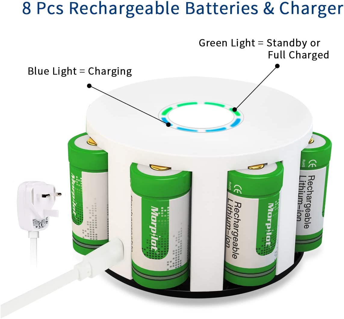 12 Pack 3V 700mAh Lithium Batteries morpilot Arlo CR123A Batteries Set For Flashlight//Arlo Camera//HD Camcorder//Microphone//Electric Shaver//Alarm Clock Reusable Batteries with Accessories Green
