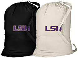 Broad Bay LSU Tigers Laundry Bag -2 Pc Set- LSU Clothes Bags