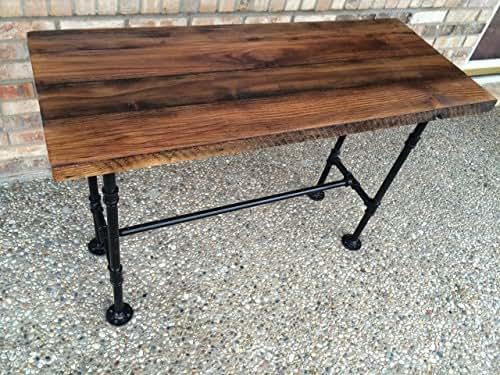 reclaimed wood desk table solid oak w 28. Black Bedroom Furniture Sets. Home Design Ideas
