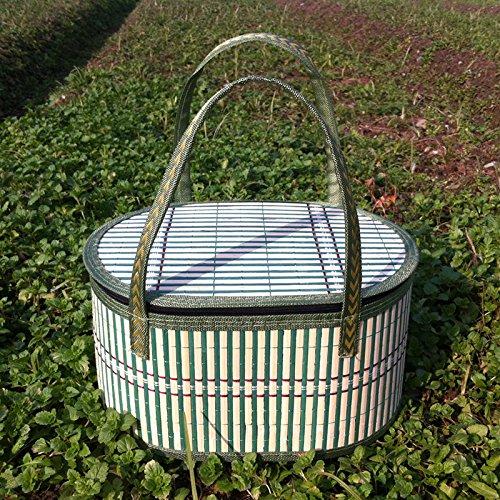 BUNITA,1pcs Bamboo Weaving Dirty Clothing Laundry Bucket Storage Basket Sundries Organizer Storage Basket For Toys Fruits Vegetable,food basket liners