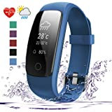 Fitness Tracker HR, 007plus D107Plus Heart Rate Monitor Fitness Smart Watch Activity Tracker with Sleep Monitor IP67 Waterproof Pedometer Smart Wristband