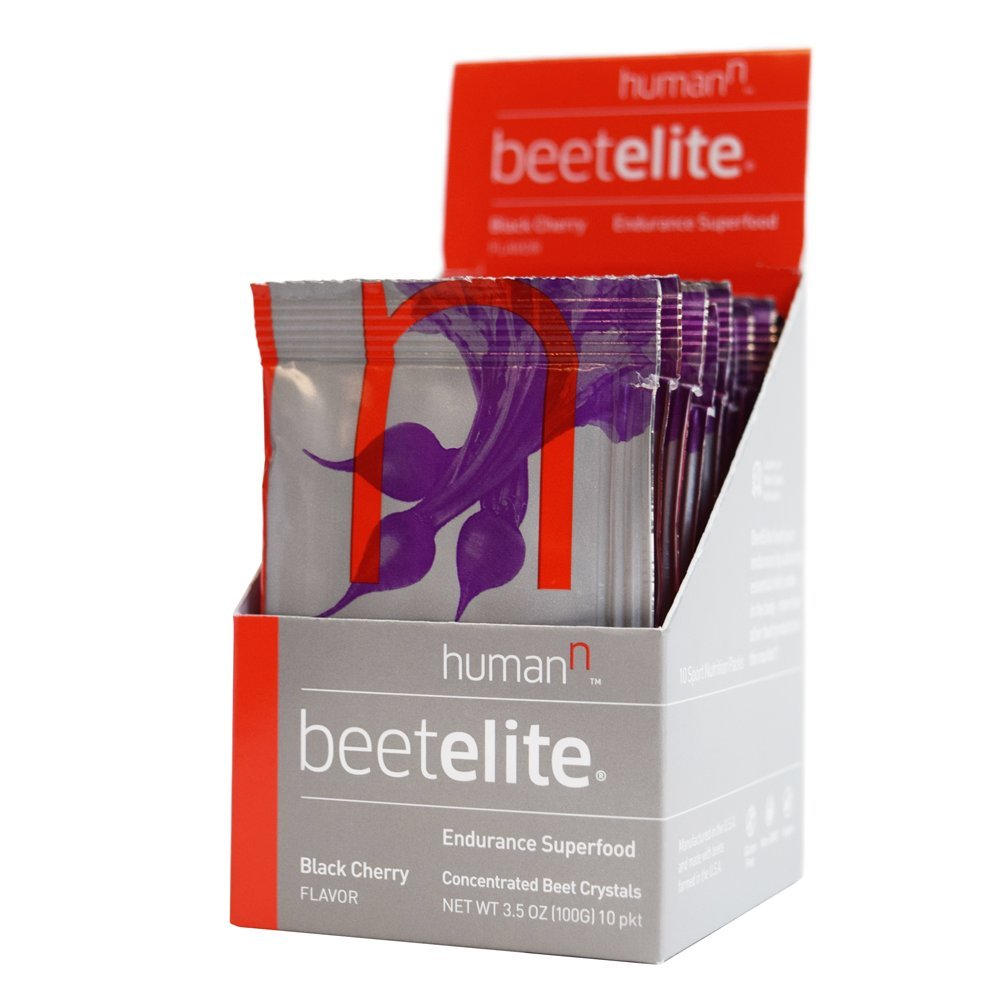 HumanN Beetelite - Beet Root Powder - Nitric Oxide Booster - Athletic Endurance Beet Supplement - Natural Black Cherry Flavor (10 Servings)