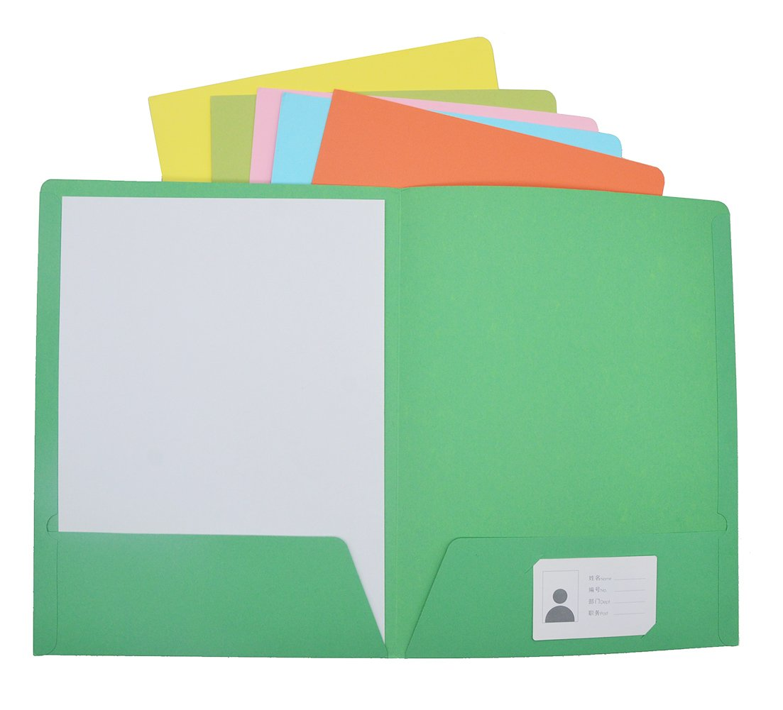 Warmter Paper Folders Eco Friendly Folder with Assorted Colors ...