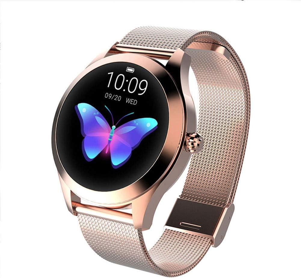 LHYAN El sueño del Ritmo cardíaco Presión Arterial Monitoreo Pulsera de los Deportes de Bluetooth Impermeable Advanced Health and Fitness multifunción Reloj,Dorado