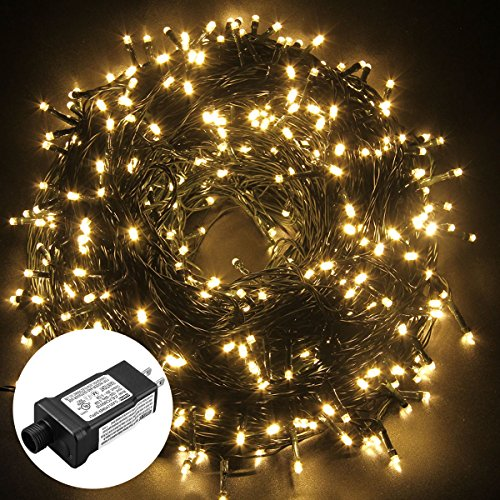 Excelvan Safe Low Voltage 500 LEDs 100M/328FT Fairy String Lights with 8 Modes for Bedroom Patio Party Wedding Christmas Decoration, Warm White