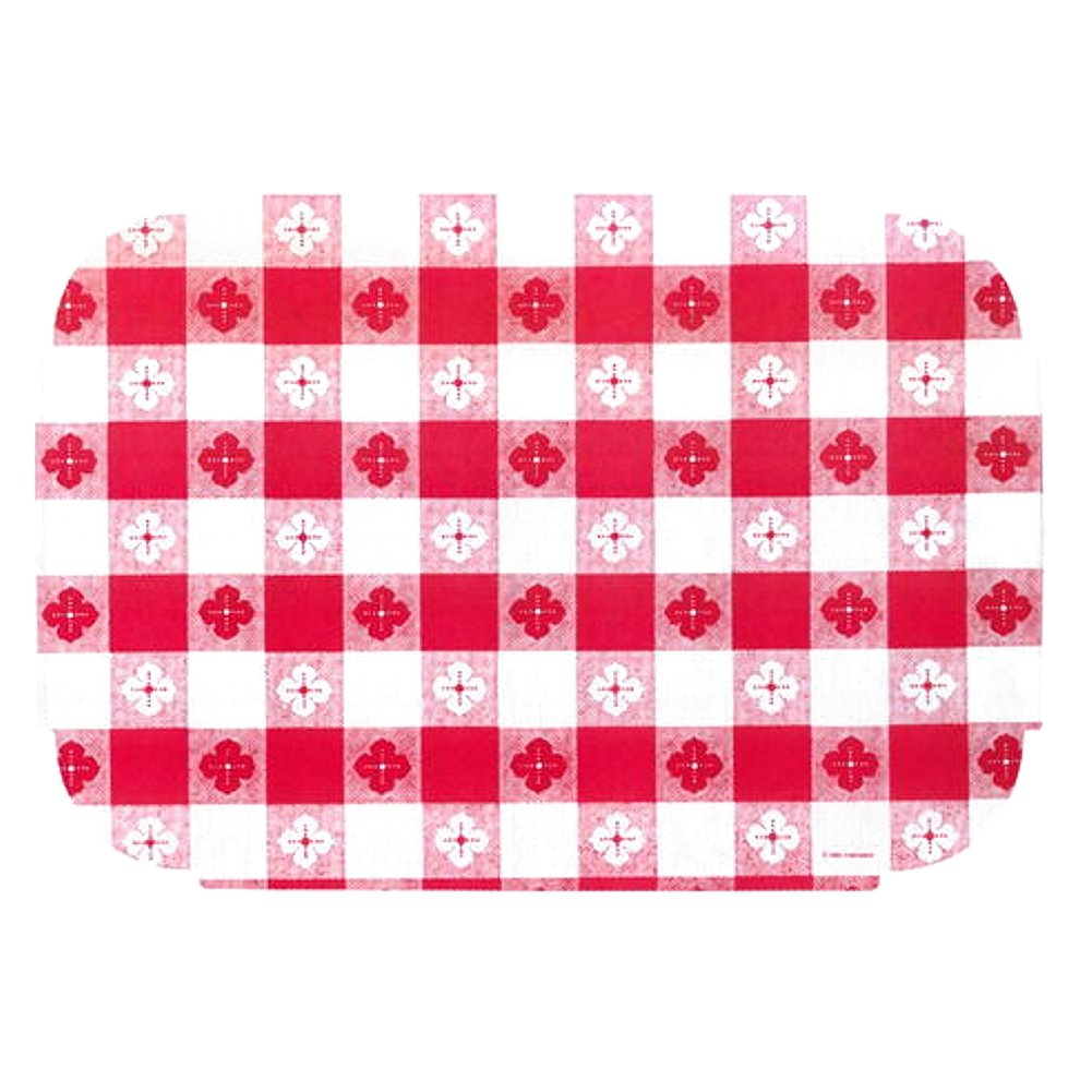 Red Gingham Paper Placemats   9.75 x 14 inches (50), red,white by MPS