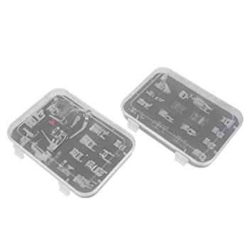 mikolotuk 32pcs multifuncional máquina de coser doméstica prensatelas conjunto de accesorios