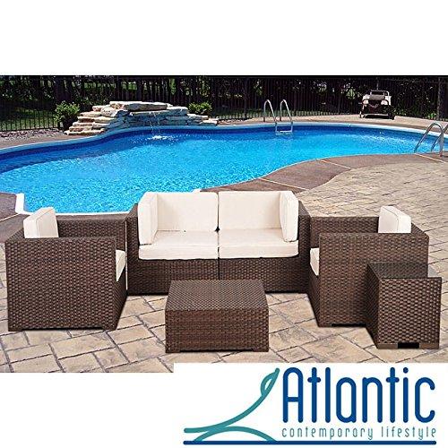 Atlantic Verona Off-white 6-piece Wicker Patio Set 70