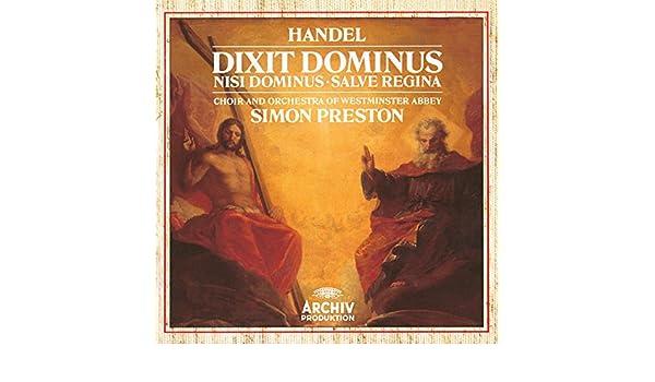 Handel: Dixit Dominus, HWV 232 - 2. Virgam virtutis tuae de Diana Montague and Orchestra of Westminster Abbey and Simon Preston en Amazon Music - Amazon.es