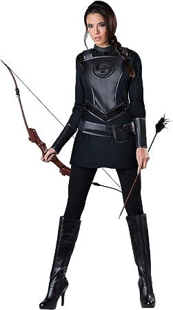Disfraz de arquera salvadora para mujer: Amazon.es: Juguetes y juegos