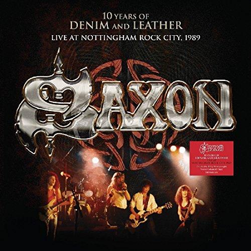 Vinilo : Saxon - 10 Years Of Denim & Leather: Live At Nottingham Rock City 1989 (United Kingdom - Import, 2 Disc)