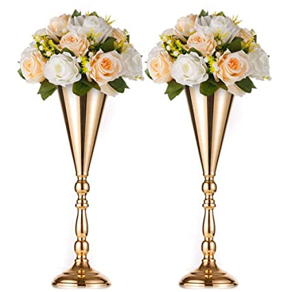 Artificial Decorations Artificial Flower Bouquet With Metal Flower Rack Wedding Flower Table Centerpieces Home Crafts Metal Stand With Flowers Ball Moderate Price