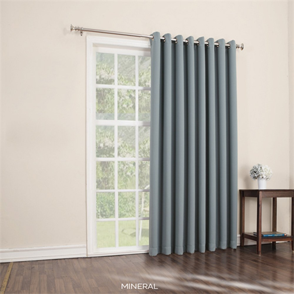 Extra wide curtain panels for patio door curtain for Wide sliding patio doors