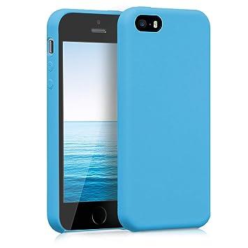 kwmobile Funda para Apple iPhone SE / 5 / 5S - Carcasa de [TPU] para teléfono móvil - Cover [Trasero] en [Azul Claro]
