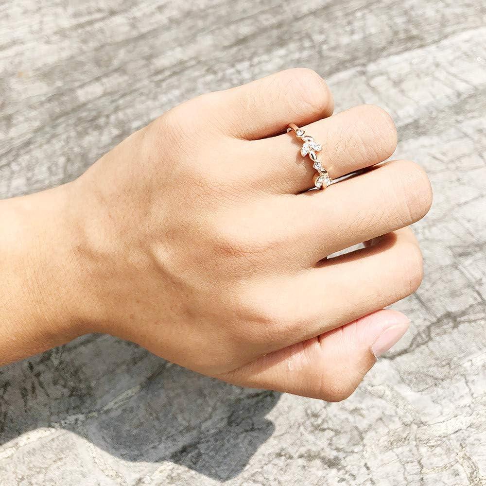 Wedding Engagement Band Rings for Women Girls Cuekondy Simple Zircon Diamond Eternity Promise Anniversary Ring