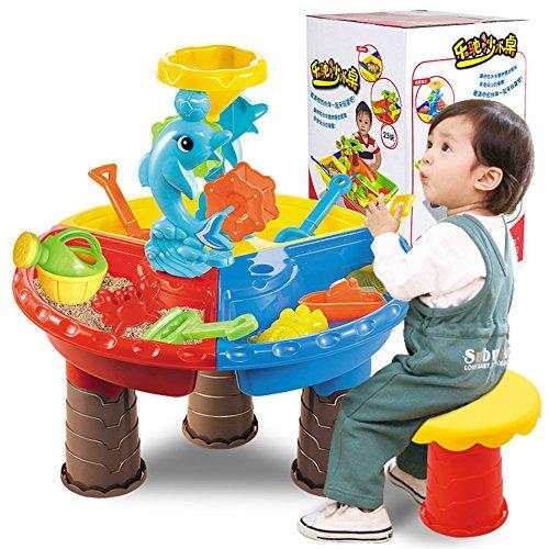 Mesa de juegos exteriores de playa Juguetes de playa piscina agua y arena,Herramientas Color aleatorio-1 Set para Niños