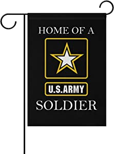 "Donnapink US Army HOME OF A SOLDIER American Military United States Army Weatherproof Polyester Garden Flag 12"" x 18"" Seasonal Home Banner"