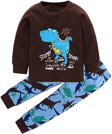 Toddler Infant Baby Girls Dinosaur Printed Tops+Pants Sleepwear Outfits Pajamas