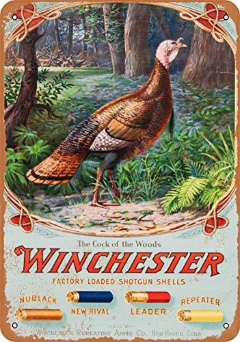 (Wall-Color 7 x 10 Metal Sign - 1905 Winchester Shotgun Shells - Vintage Look)