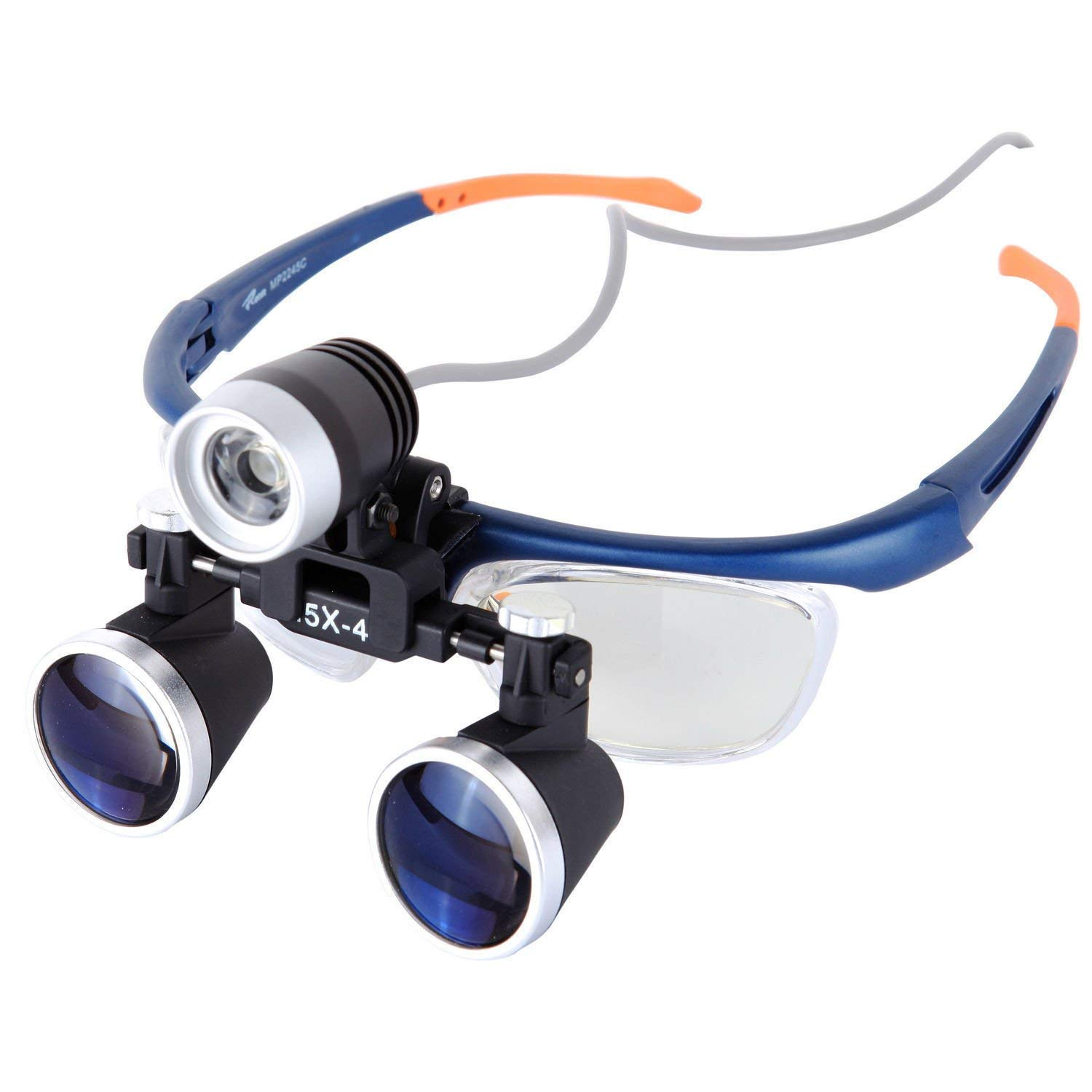 Medical Loupe Surgical Binocular Magnifier w/ 3W High Brightness LED Dental Headlamp Working Distance 420mm (3.5x Magnification) by Beacon Pet