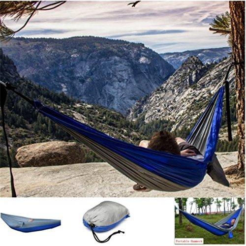 CAMTOA Outdoor Hängematte Hammock Mit tragbare Taschen 270 x 150 cm, Belastbarkeit bis 300 kg