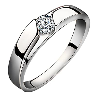Meyiert 925 Sterling Silver Wedding Band Anniversary Engagement Promise Eternity Ring NGyEW