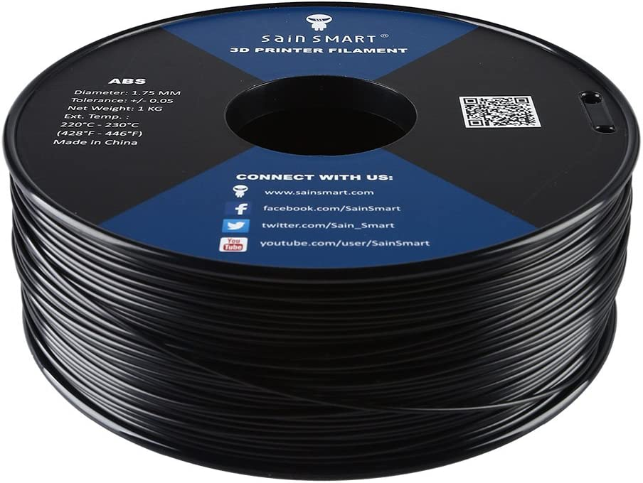 SainSmart 3D ABS 1KG 1.75mm BLK ABS 3D Printer Filament, Diional Accuracy on tube assembly, tube terminals, tube fuses, tube dimensions,