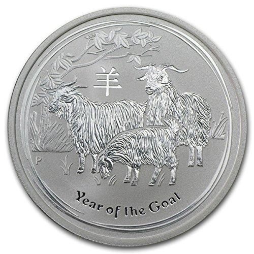 - 2015 Special Mint Silver Very Fine 1/2 oz Silver Goat 999 Fine Perth Mint Austrailia