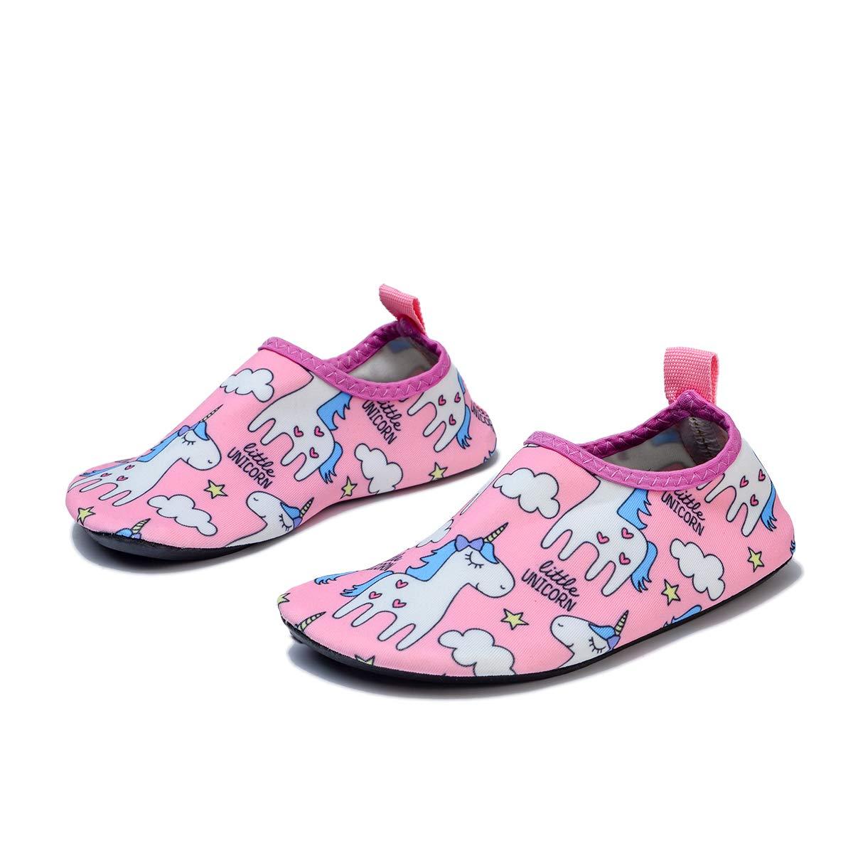 Unicorn Cat Girls Boys Kids Aqua Socks Swim Water Shoes Quick Dry Non-Slip Shoes