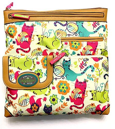 Lily Bloom Christy Large Crossbody Bag, Feline Fun