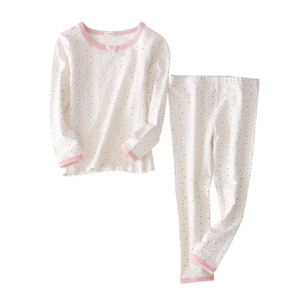 XINNE Little Kids Cotton 2 Piece Long Sleeve Pajamas Sleepwear Nightwear Set Nighty Homewear