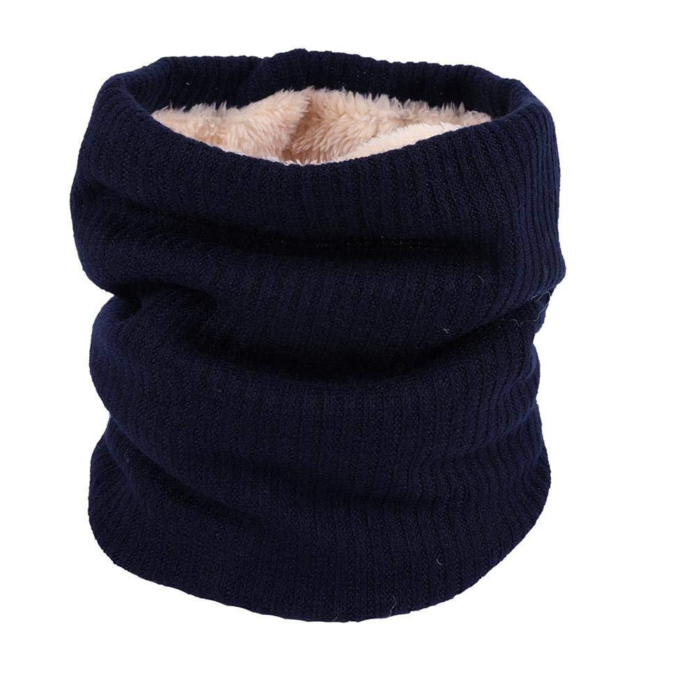 Yellow Labyrinen Double Layer Knitted Thick Warm Circle Loop Infinity Scarf for Winter for Women and Men Khaki Black Navy Blue
