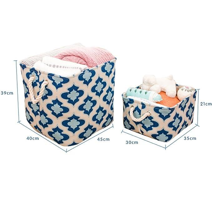 inwagui Cesto - Cesta con mango Armario Organizador Caja para ropa Toallas de mano de ropa de cama: Amazon.es: Hogar