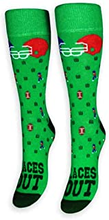 product image for FREAKER Feet, Unisex Casual Dress Fun Colorful Cotton Crew Socks, Laces Out Football