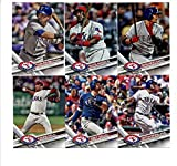 2017 Topps Texas Rangers Complete Master Team Set of 30 Cards (Series 1, 2, Update): Keone Kela(#22), Nomar Mazara(#233), Joey Gallo(#237), Adrian Beltre(#280), Elvis Andrus(#284), Shin-Soo Choo(#290), Carlos Beltran(#315), Mitch Moreland(#317), Jonathan Lucroy(#346), Jurickson Profar(#367), Carlos Gomez(#427), Texas Rangers(#430), Jeremy Jeffress(#514), James Loney(#524), Martin Perez(#545), HEART OF TEXAS(#566), Matt Bush(#591), Sam Dyson(#620), Ryan Rua(#637), Cole Hamels(#640), plus more