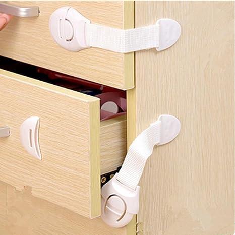 12Pcs Cerraduras de Seguridad para Niños-Woocika Cierre Seguridad Bebés, Gabinetes de Prueba de