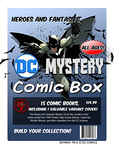 Mystery Box By Heroes and Fantasies Containing 14 Modern Age DC Comic Books and 1 Exclusive Variant Comic Book