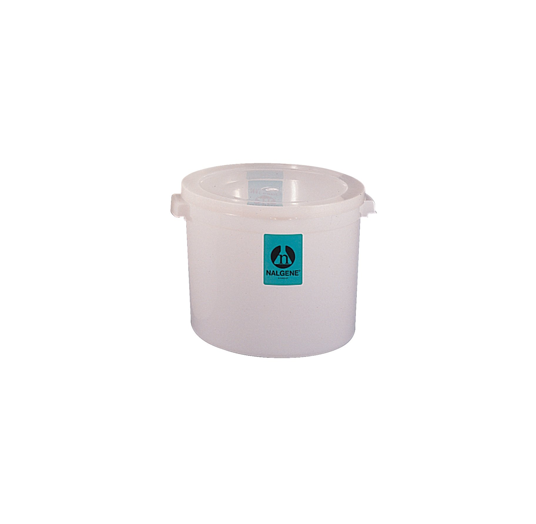 Nalgene High-Density Polyethylene Large Round Jar with Cover, 15L Capacity, 305mm O.D. x 240mm H (Case of 6)