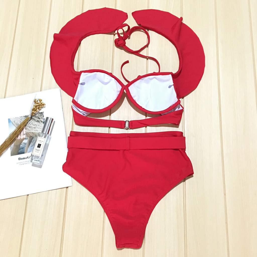 Inverlee Women Fashion Push-Up Padded Bra Beach Bikini Set Swimsuit Beachwear Swimwear